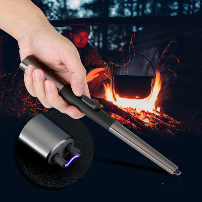 Metal USB Electric Windproof BBQ Kitchen Stove Pulse Ignition Cigarette Lighter