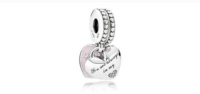 Pandora Mother and Daughter Hearts Hanging Charm【AU Stock】Item 792072EN40