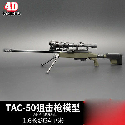 "TAC-50 MODO Sniper Rifle Weapon Gun F 1/6 Scale12"" Action Figure 1:6 Model Toy"