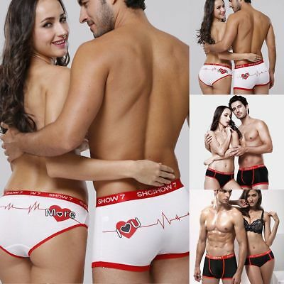 Men's Boxer Bottom Shorts Briefs Womens Panties Lovers Couple Knickers Underwear