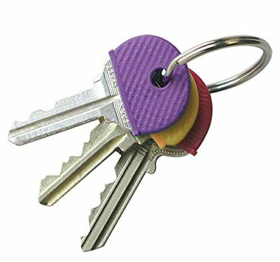 8 Pcs Key Caps Tags, Rubber Key Identifier Cover, Color Coded Key ID in 8 Colors