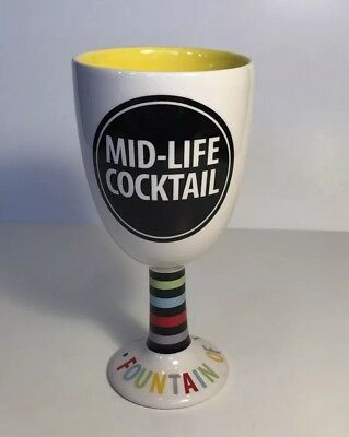 Mid Life Cocktail Cup Fountain of Youth Chalice Funny Mug Our Name is Mud Signed