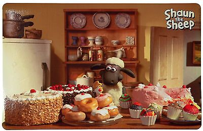 Shaun the Sheep Place Mat with Baking Photo Motif for Dog Cat Bowls Non-Slip