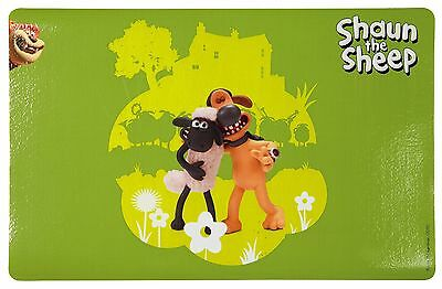 Shaun the Sheep with Bitzer Dog Cat Place Mat Plastic Non-Slip
