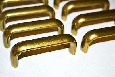Lot Vintage Brass Burnished Gold Drawer Cabinet Pull - Heavyweight Art Deco K2