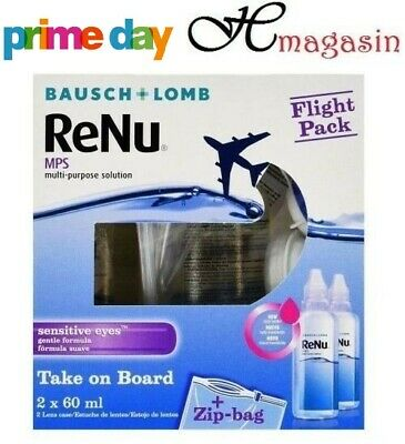 Bausch & Lomb ReNu MPS Multi-Purpose Contact Lens Solution Flight Pack 2x60ml