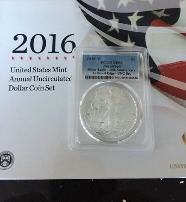 2016 United States Mint Annual Uncirculated Dollar Coin Set Pcgs Sp69