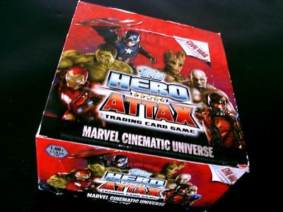 Topps HERO ATTAX Cinematic Universe-Civil War- 1 Display Trading Cards Marvel