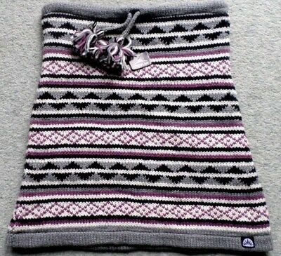 Warmer Damen Rock Norweger Minirock Winterrock kurz Strickrock Wolle Grau Gr.XL