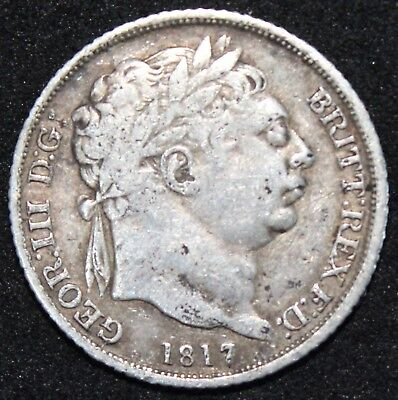 1817   George III Sixpence   Silver   Coins   KM Coins