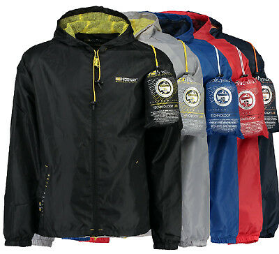Geographical Norway Outdoor Regen Übergangs Jacke Windbreaker Regenjacke Rain