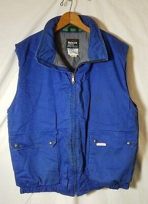 Bulwark Indura By Westex Insulated Vest Blue Size Large, Distressed/stains A2264