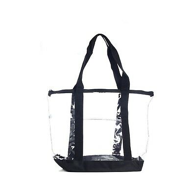 Bag Zippered Plastic Large Tote Shoulder Handbag Shopping Women Grocery Shopper