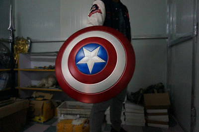 1:1 Scale Captain America Vibranium Shield Made of Aluminum Alloy Cosplay Props