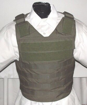 New Large IIIA Tactical Plate Carrier Body Armor BulletProof Vest with Inserts