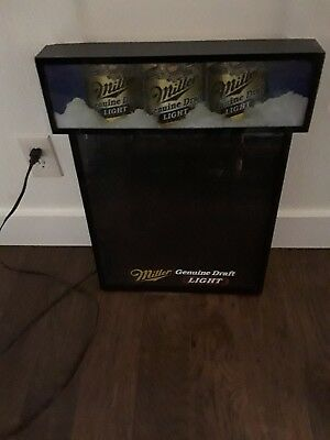 Miller Light Genuine Draft Beer Dry Erase Menu Light Up Sign Pub Bar