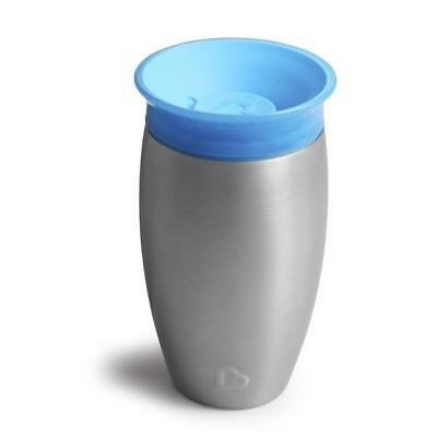 Munchkin Miracle(R) 10 Ounce Stainless Steel 360 Degree Sippy Cup - Blue
