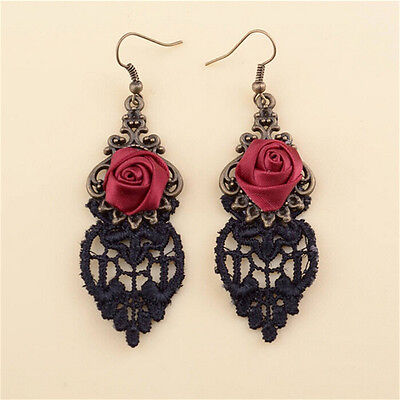 New Fashion Aestheticism Gothic Victorian Retro Lace Vintage Pendant Earrings MO