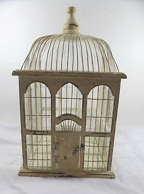 Vintage Distressed Wooden Bird Cage Decoration Or Use Shabby Chic