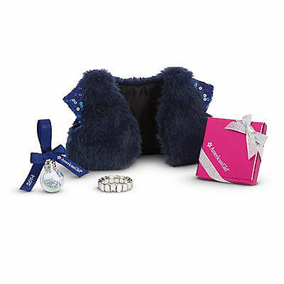 New American Girl Happy Holiday Accessories Sequin Wrap Shawl Candy Bracelet