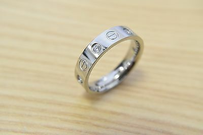 Men's Stainless Steel Ring With  Cubic Zirconia Stones And Engraved Screw Design