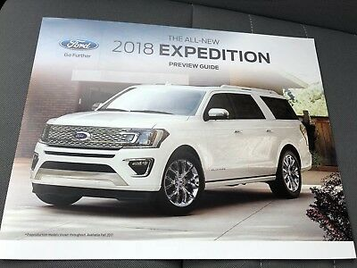 2018 FORD EXPEDITION Preview Guide 6-page Original Sales Brochure
