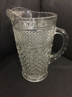 Wexford Beverage Pitcher Clear Glass 64 Oz Large Classic Vintage Anchor Hocking
