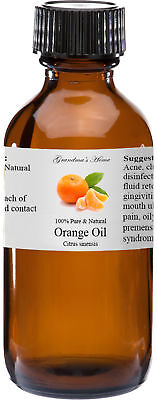 Orange (Sweet) Essential Oil - 4 oz - 100% Pure and Natural - Free Shipping