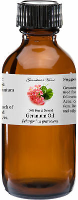 Geranium Essential Oil - 4 oz - 100% Pure and Natural - Free Shipping