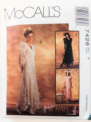 McCall's 7426 Misses' Dress lace Alicyn Exclusives Size 8 Sewing Pattern Uncut