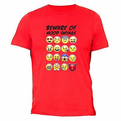 BEWARE OF MOOD Swings T-shirt Emoji Funny Icons Love Bae Boo