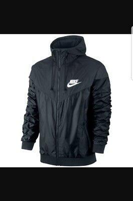 nike jacke schwarz blau schwarz neu windrunner windbreaker. Black Bedroom Furniture Sets. Home Design Ideas