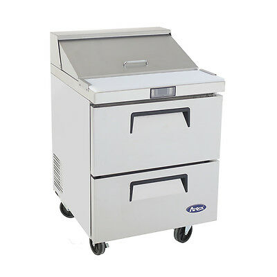 """NEW 27"""" 2 Drawer Refrigerated Sandwich Prep Table Refrigerator Atosa 8309 #2969"""