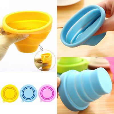 Delicate  Folding Cup Travel Fashion Telescopic Drinking Candy Color Silicone