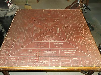 Antique/ Vintage Advertising Card Table Very Rare