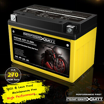 AGM Motorcyle Battery YTZ14S Honda CRF1000L Africal Twin RVT1000R VTR1000 RC51
