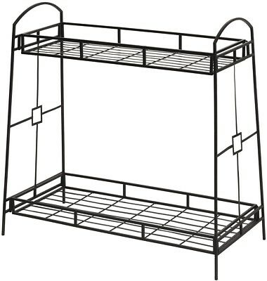 Panacea 86710 Plant Stand with Contemporary Tray Design and 2-Tier, 32-Inch