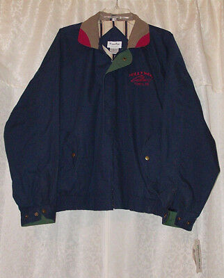 "HOLLYWOOD ""TUNICA MS"" Casino ~ Jacket / Coat by WinnerMate - Blue/Multi ~~ LARGE"
