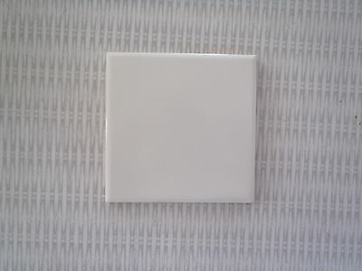 "Vintage White Ceramic Porcelain Flat Wall TILES 4 3/8"" ~ Reclaimed ~ made USA"
