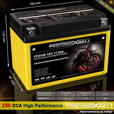 250CCA AGM Motorcyle Battery YTZ14S BMW C600 F700 F800 GS R1200 HP2 S1000RR DWA