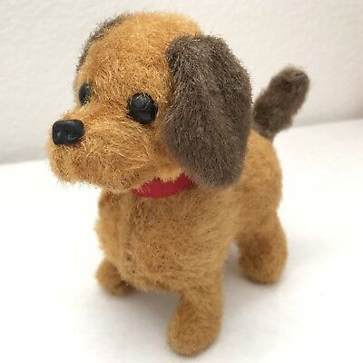 Vintage Mechanical Wind Up Dog Puppy Doxie Spaniel Terrier Plush Toy Japan?