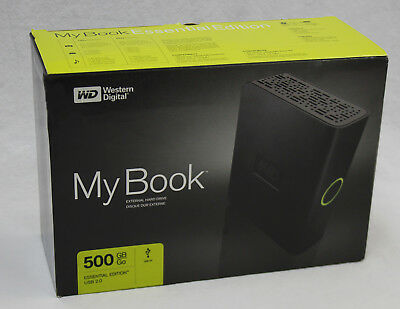 NIB WD My Book Essential Edition 500 GB USB 2.0 External Hard Drive WDG1U5000N