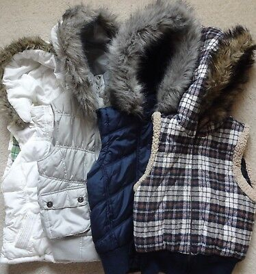 Lot of 4 Puffer Hooded Vest Aeropostale/Max Rave/Forever size XS-S