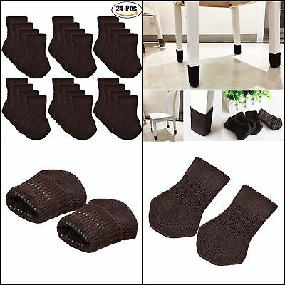 Quality Chair Legs Socks Floors Protector Padded for Patio Dining Office, 24pc
