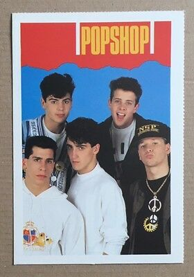 NEW KIDS ON THE BLOCK Original Vintage Popshop Magazine Postcard