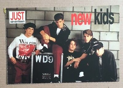 NEW KIDS ON THE BLOCK Original Vintage Just Seventeen Magazine Postcard