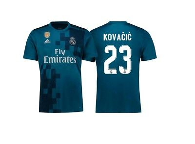 Adult L Real Madrid Third Shirt 2017-18 with Kovacic 23 RM7