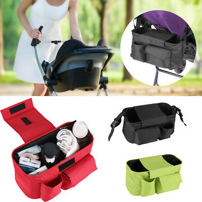 Baby KIids Pram Stroller Buggy Storage Pushchair Oxford Bag Bottle Cup Organizer