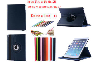360°Rotating Case Cover for iPad 2/3/4 Mini 1/2/3/4 Air 1/2 pro 9.7 12.9 2017 RA