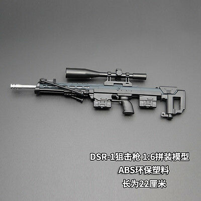 "DSR-1 MODO Sniper Rifle Weapon Gun For 1/6 Scale12"" Action Figure 1:6 Model Toy"